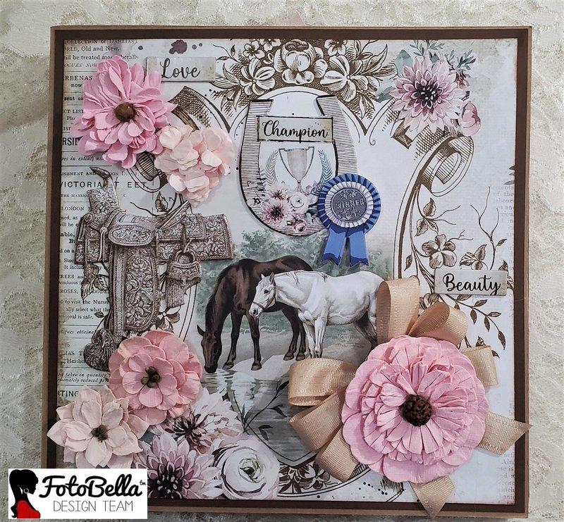 stamperia, horses, photo folio, fotobella