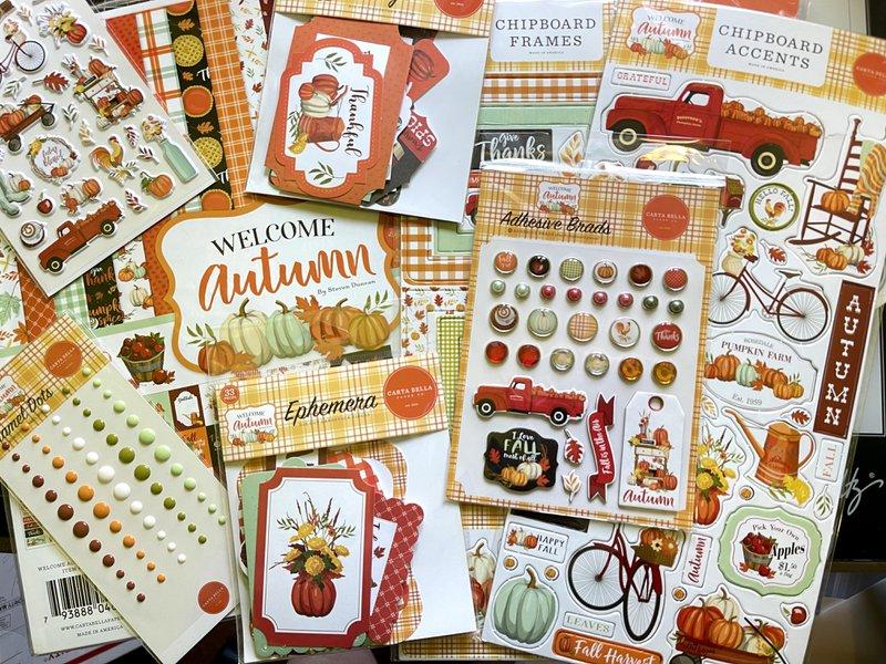 carta bella, fotobella, card making, welcome autumn