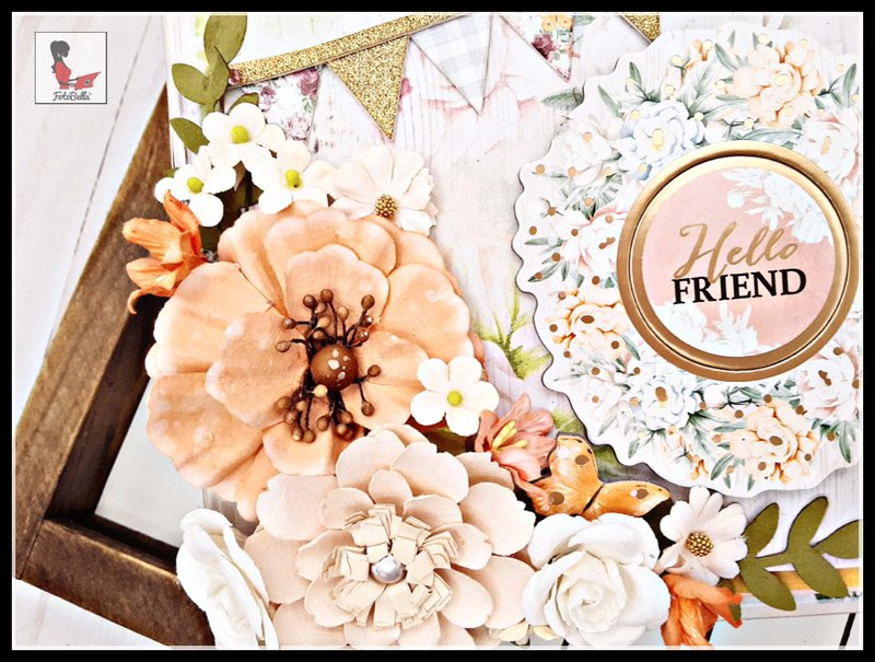 Prima Flower cluster and chipboard embellishments