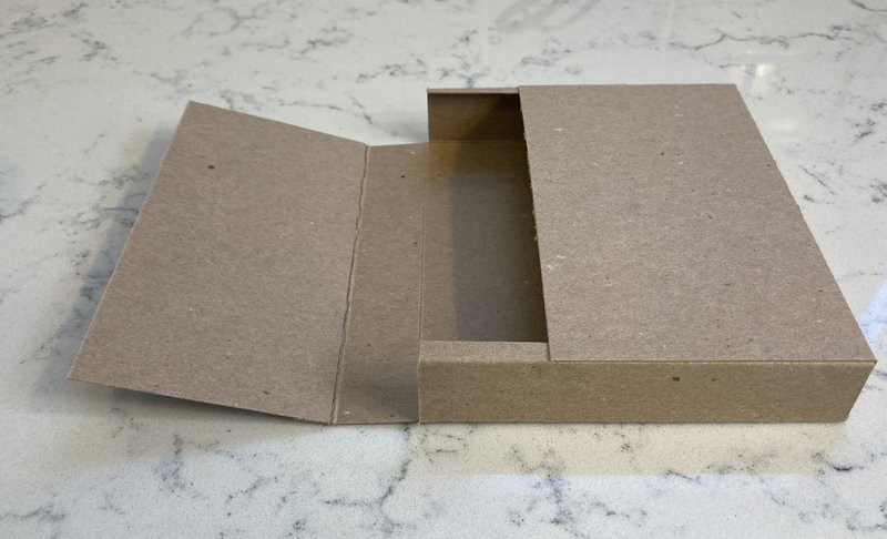 glue sides and bottom to make box