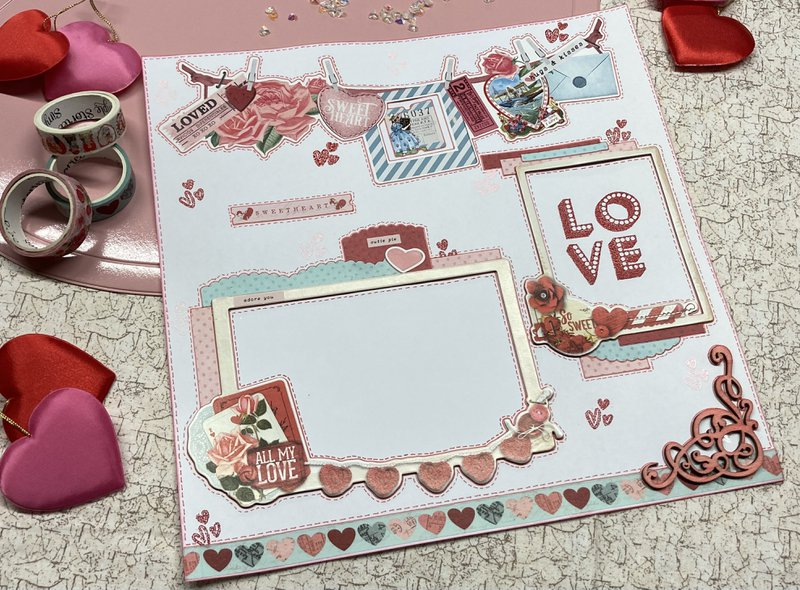 Page 2 of Valentine's Day layout
