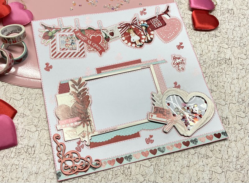 Page 1 of Valentine's Day layout