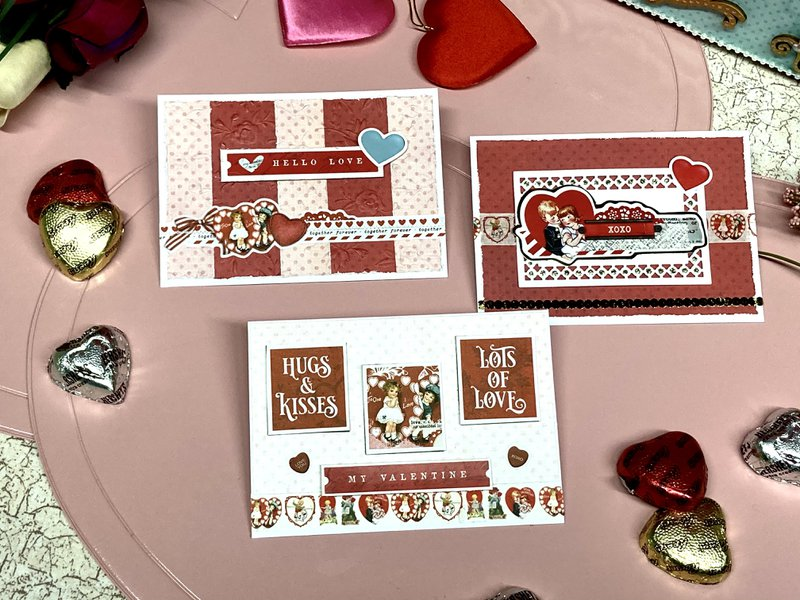 Simple Stories Vintage My Valentine Cards