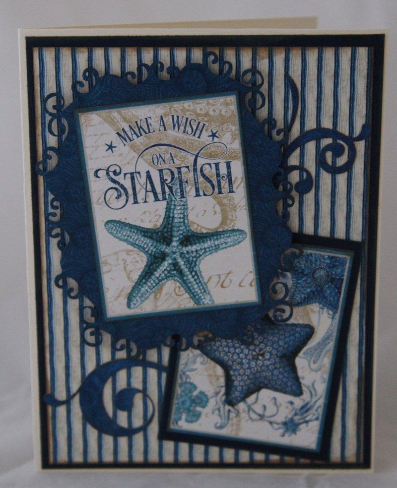 card, graphic 45, ocean blue