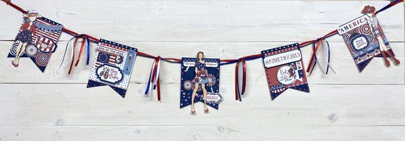 Carta Bella God Bless America Banner