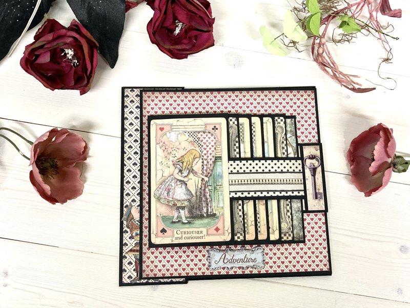 Stamperia Alice in Wonderland mini album