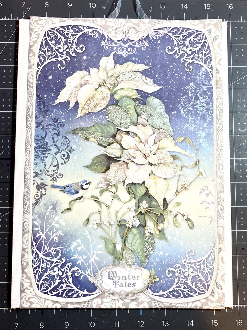 wall hanging using Stamperia Winter Tales