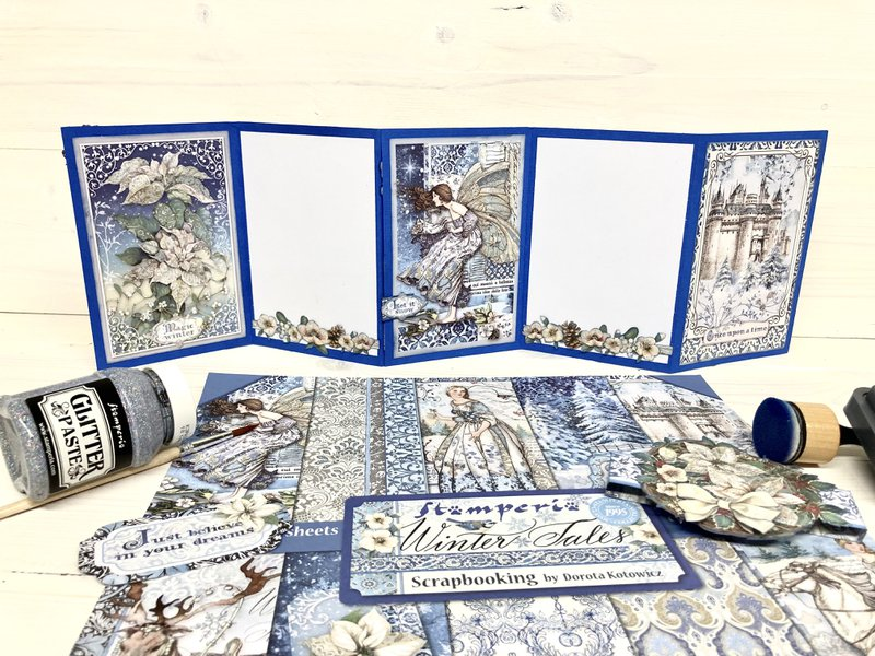 Stamperia Photo Display card