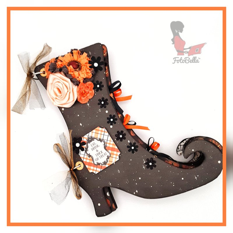 Halloween Witch's Boot Chiboard Album