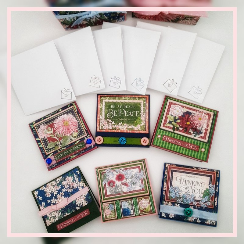 Graphic 45 3x3 handmade cards and envelopes