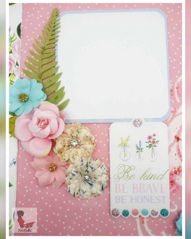 carta bella, fotobella, scrapbook layout