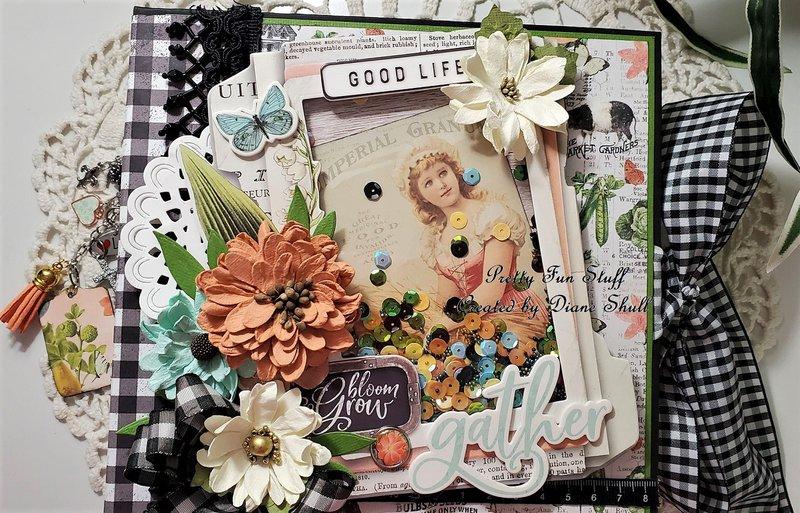 simple stories, farmhouse garden, fotobella, shaker mini album