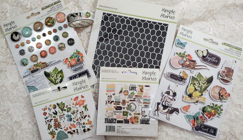 fotobella, simple stories, farmhouse garden, tag album