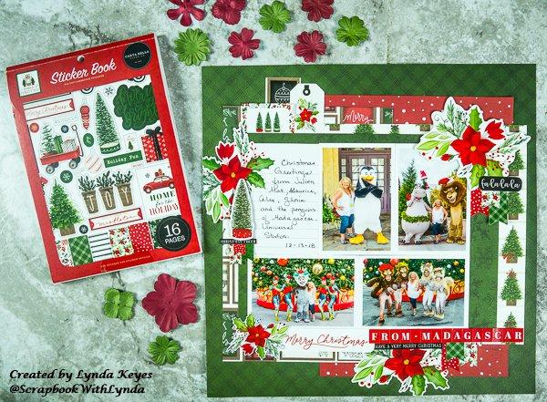 carta bella, home for christmas, fotobella, scrapbook layout