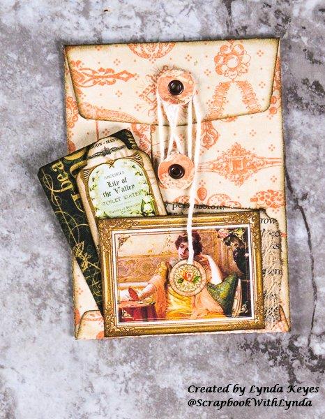 graphic 45, fotobella, policy envelope die, portrait of a lady