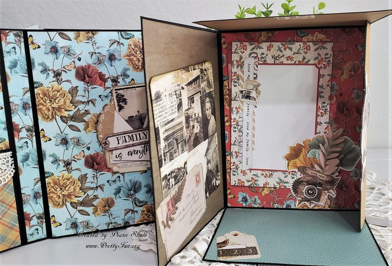 simple stories, vintage ancestry, shaker folio, fotobella