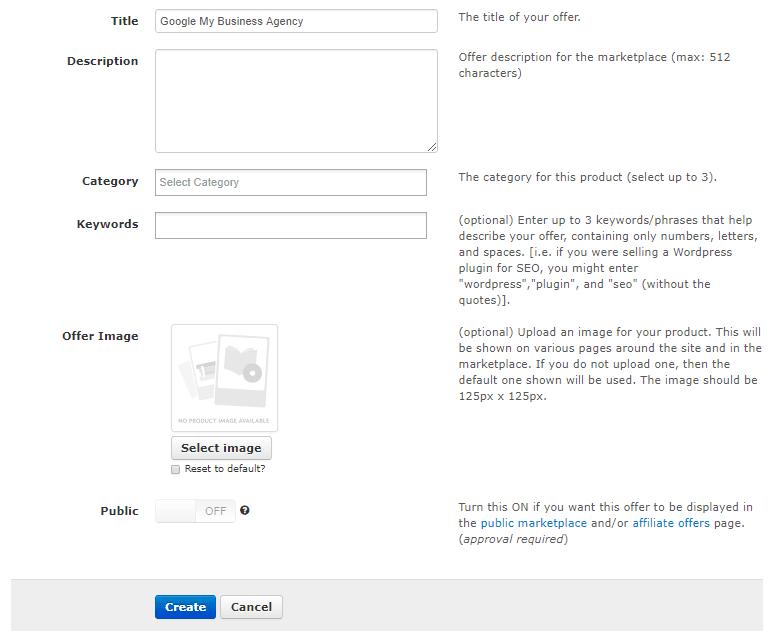 Offer details section