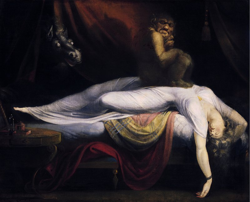 The Nightmare is a 1781 oil painting by Anglo-Swiss artist Henry Fuseli.