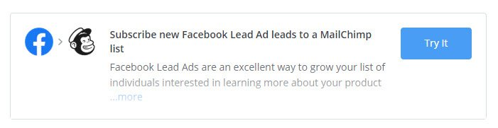 Facebook Lead Ads to MailChimp list