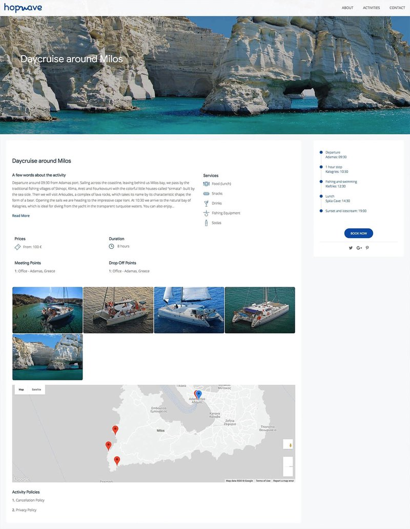 Website example in the kayak company blog