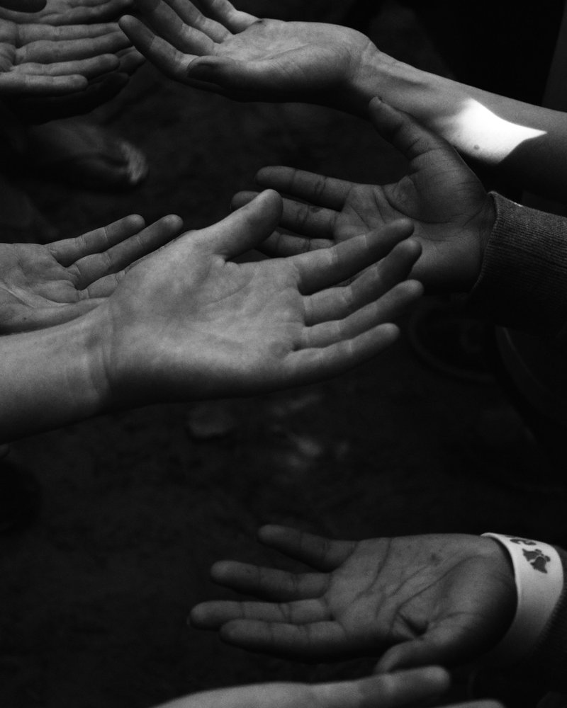 Over a year ago I took this photo from a place I loved, but basically was shunned from for really no reason. These hands are held out to catch someone in a trust fall. Its about trusting the right people, not everyone. I've learned since then, then I thought I could trust certain people but as you could tell, trusting is hard.This has been in my college's new media showcase during an art event. Photography isn't my strongest suit, illustration is, but I do enjoy capturing moments that made me happy, I hope you like it too.