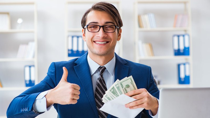 An employee with monetary compensation