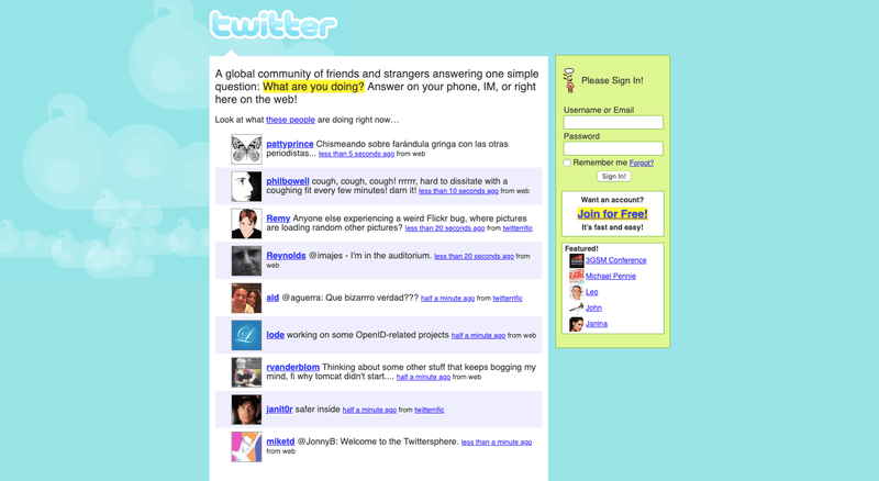 Twitter in the early days