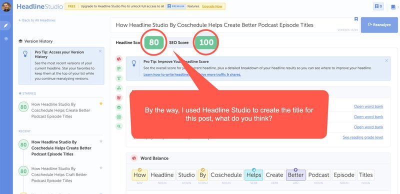 How I use the Coschedule Headline Analyzer