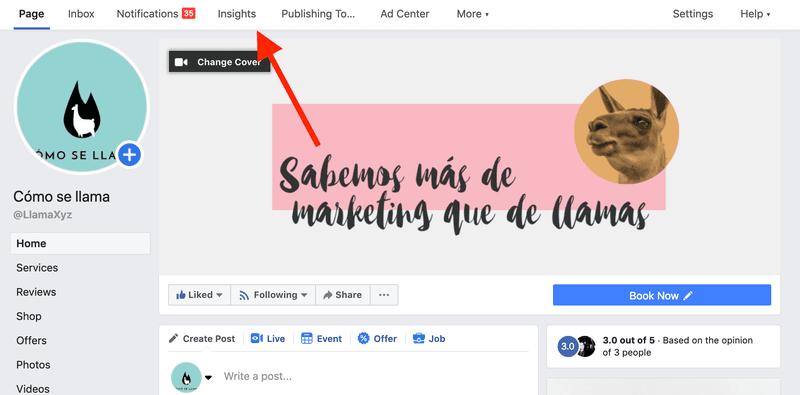 Inisghts de facebook