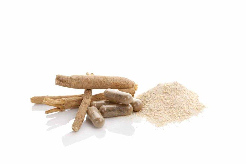 Ashwagandha powder and capsules