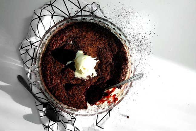 Beetroot Red Velvet Self-Saucing Pudding