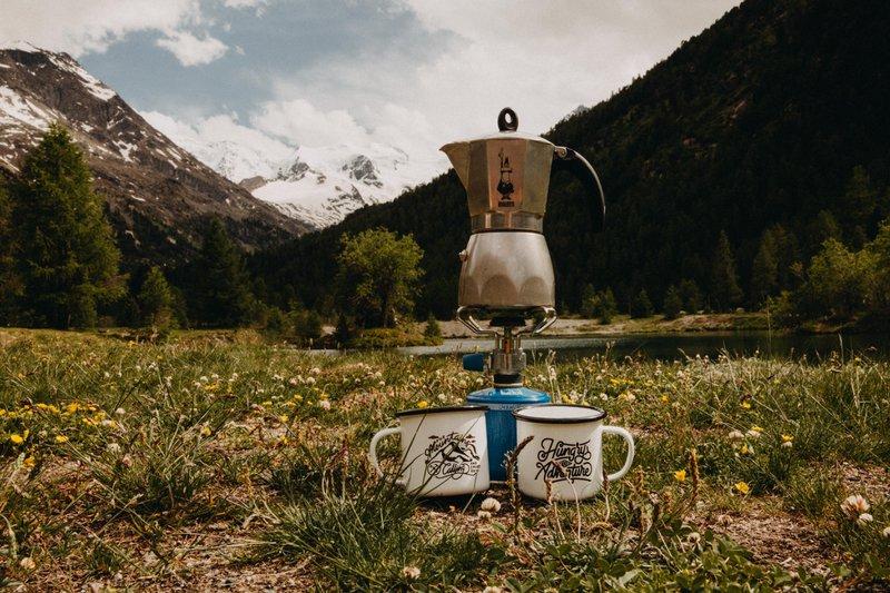 Moka Pot Jet boil camping coffee