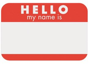 Personalization name tag