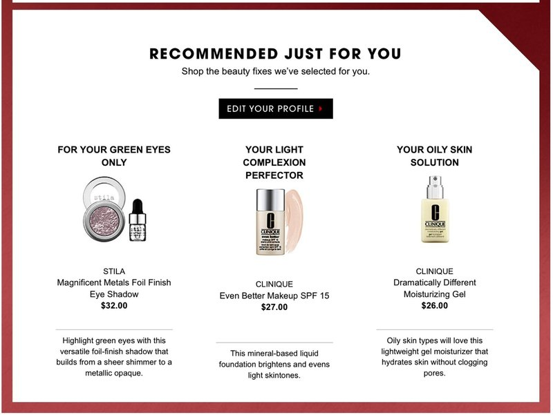 Use personalized product recommendations