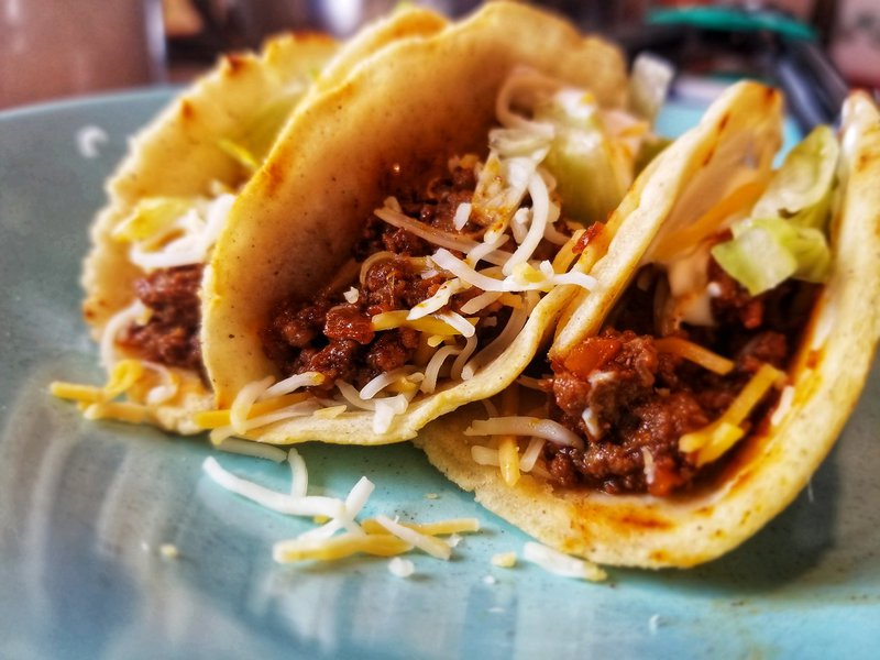 Beef tacos for kids