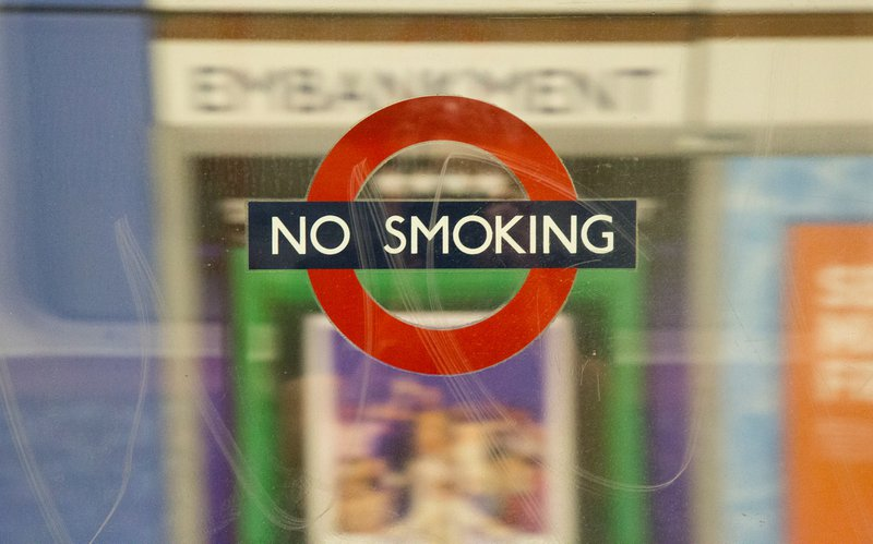 Smoking hasn't been allowed in the London Underground for almost 30 years. Yet, they still keep reminding us…