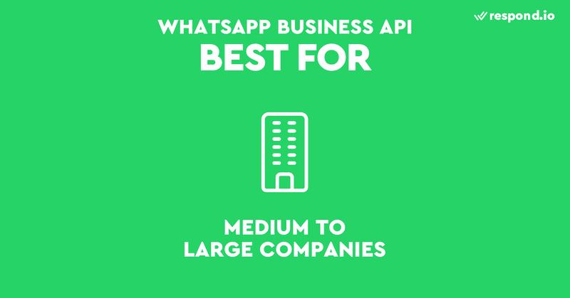 La API de WhatsApp está diseñada pensando en las empresas medianas y grandes. Al tratarse de una API, no existe una app ni una interfaz front-end.
