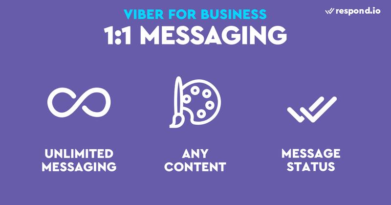 Los bots de Viber son más amigables con los negocios. No hay ventana de mensajería y se proporcionan recibos de lectura para los mensajes enviados.