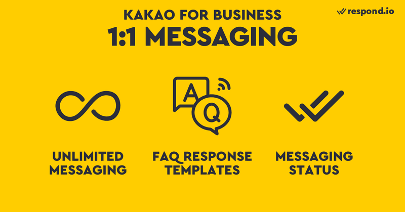 With most messaging apps, visitors have to add your account before starting a chat. However, for KakaoTalk Channels anyone can start a 1:1 chat without adding you. This function can be disabled or you can select a preferred day and time to enable chat.