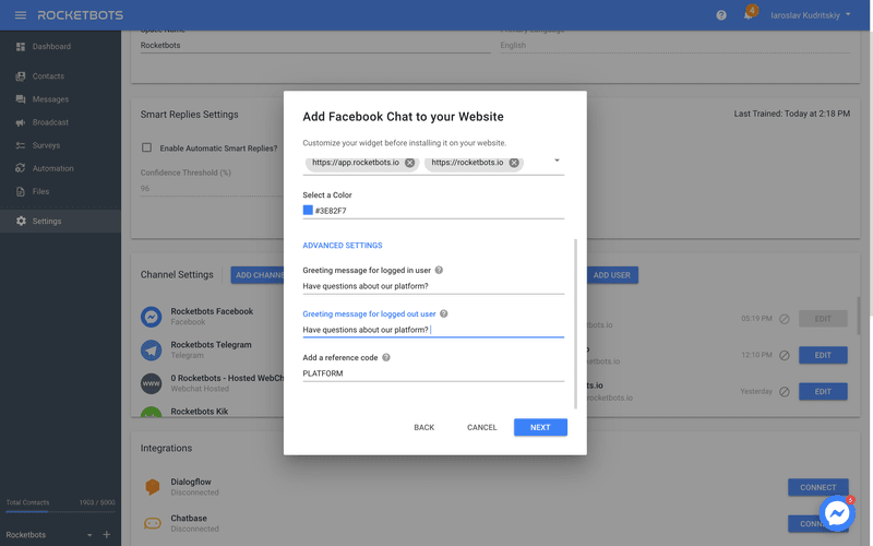 Adjust Advanced Settings To Add Facebook Customer Chat Plugin To Your Website With Google Tag Manager