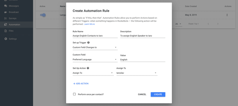 Create A Rule To Assign Someone Based On The Survey Response
