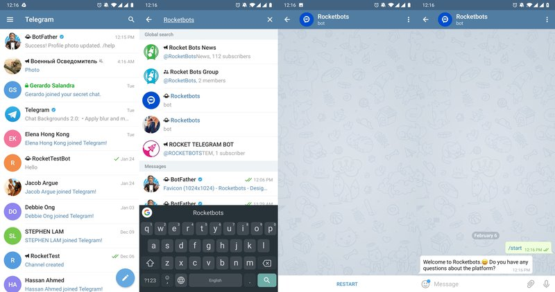 When using Telegram for business it is important to know that users can search for your telegram business account using in app search.