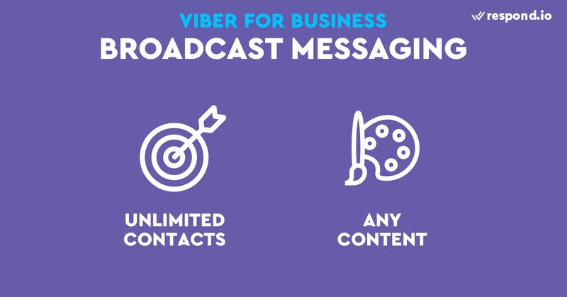 Al igual que la mensajería 1:1, Viber no pone limitaciones al contenido o al número de transmisiones que puede enviar. Sin embargo, tendrá que asegurarse de que la plataforma de mensajería empresarial a la que conecte su bot de Viber tenga funcionalidad de difusión.