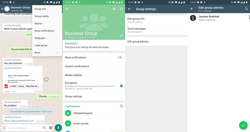 This is a picture showing how you edit WhatsApp Group Admins
