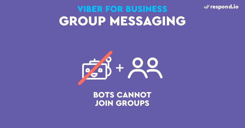 Los bots de Viber no pueden unirse a los chats de grupo
