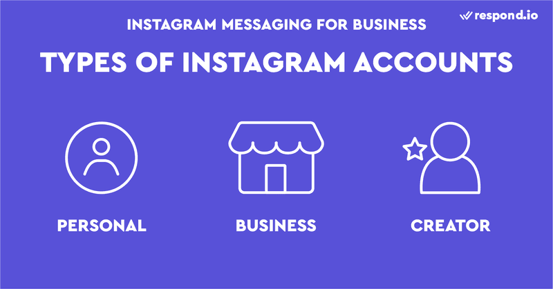 Instagram has two main types of accounts - Personal and Professional. The Professional Account is made up of the Business Account and Creator Account.