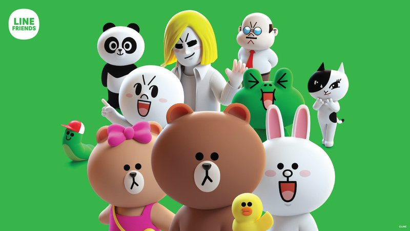 This picture shows a selection of the app's mascots.