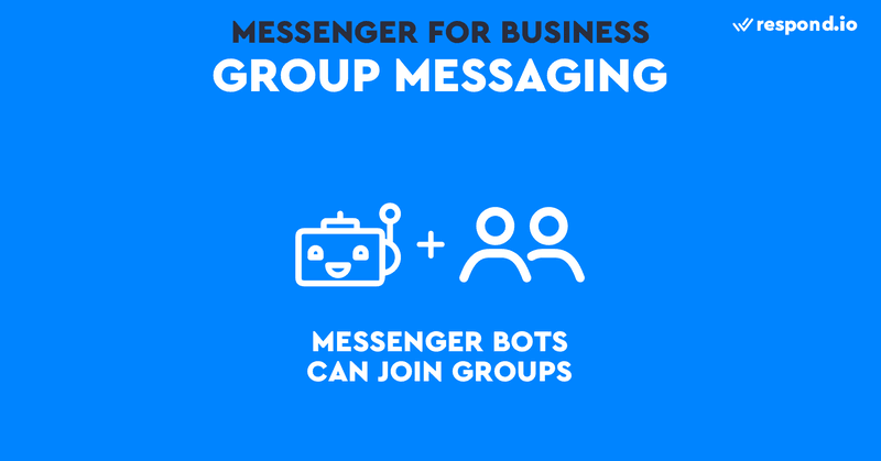This is an image of the group messaging feature of Facebook Messenger. Group messaging has become important for some business use cases like sales. And you'll be pleased to learn that Facebook Messenger bots can be added to group chats. Once group chat support is enabled, your Messenger Bot will show up in the Add people typeaheads in an existing group chat thread.