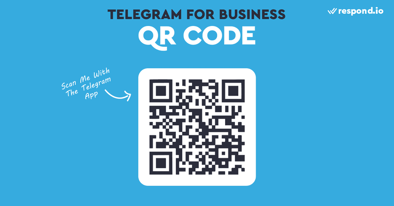 QR Codes are another option to drive traffic to your Telegram business account. Unlike links, they can be used in offline locations like physical stores. Like Chat Links, QR Codes will only work with the app installed, so add a Telegram logo above the QR code.