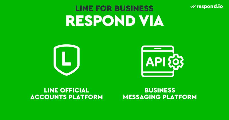 Responding to messages via LINE Official Accounts Platform and LINE Business API or a business messaging platform like respond.io
